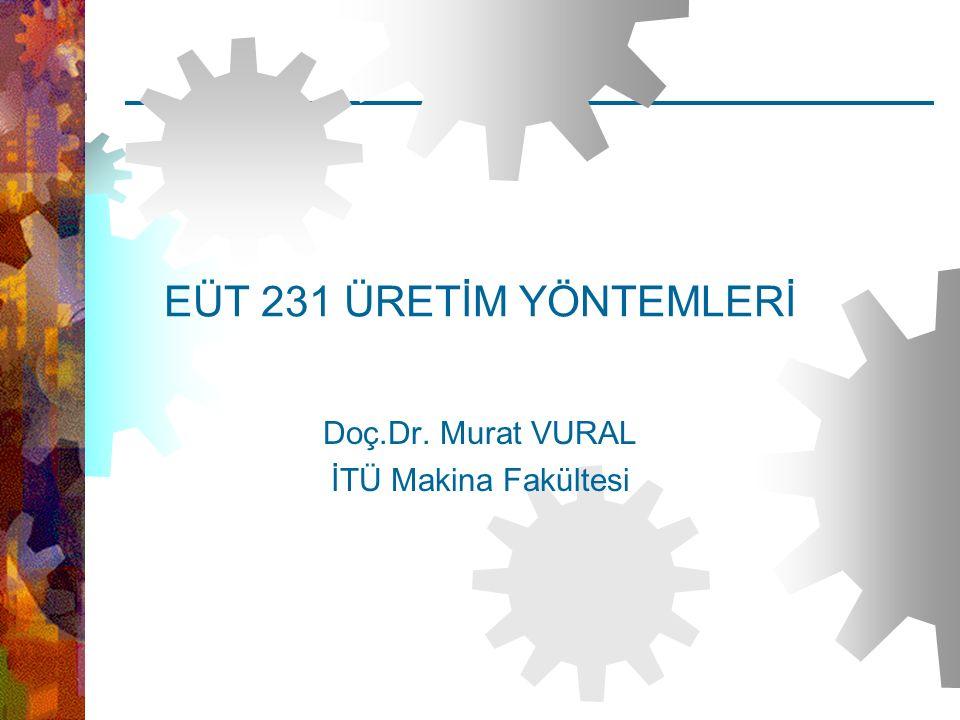 EUT 231 ÜretimYöntemleri – Doç.Dr.