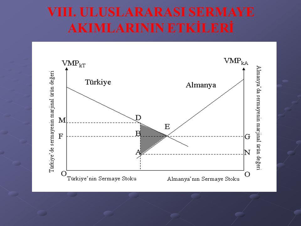VIII. ULUSLARARASI SERMAYE AKIMLARININ ETKİLERİ