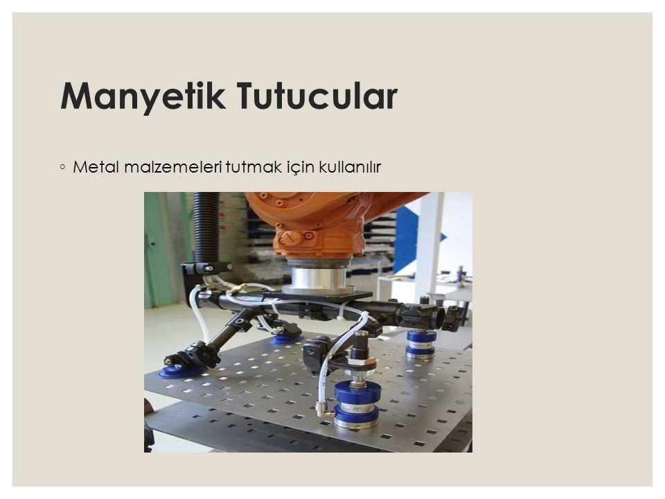 Manyetik Tutucular ◦ Metal malzemeleri tutmak için kullanılır