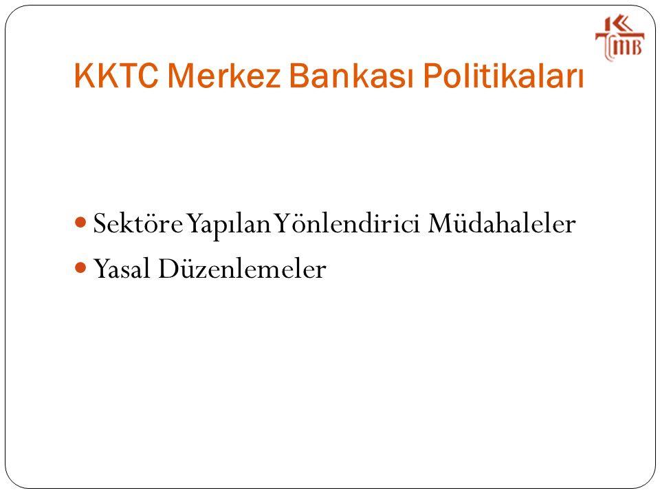 KKTC Merkez Bankası Politikaları Sektöre Yapılan Yönlendirici Müdahaleler Yasal Düzenlemeler