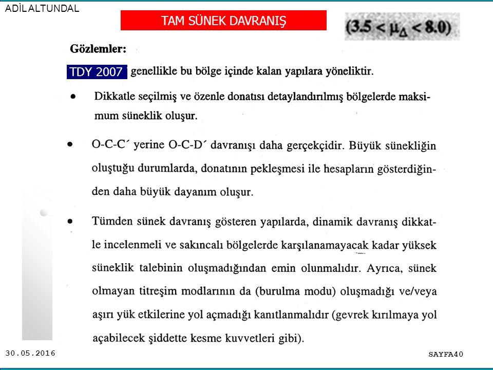 30.05.2016 ADİL ALTUNDAL SAYFA40 TAM SÜNEK DAVRANIŞ
