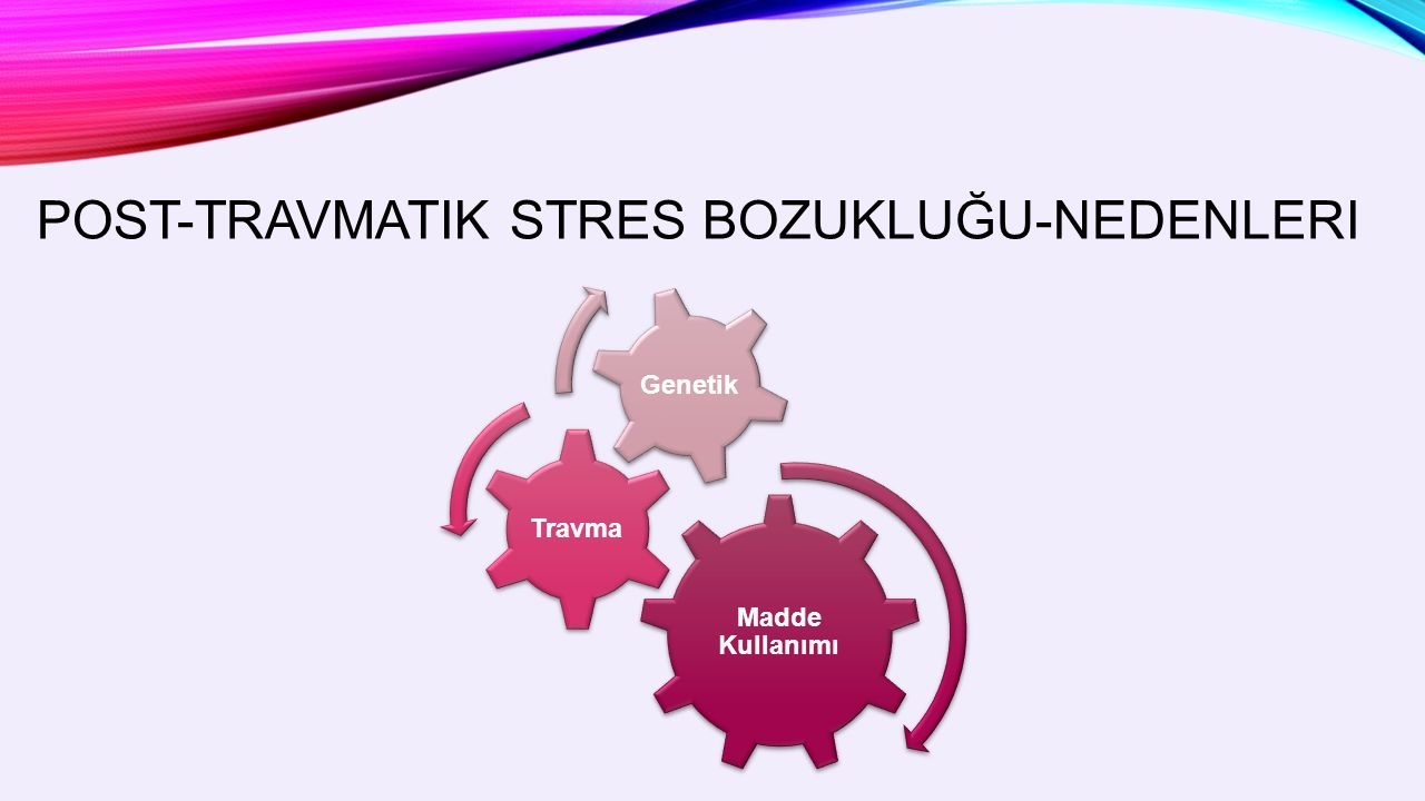 POST-TRAVMATIK STRES BOZUKLUĞU-NEDENLERI Madde Kullanımı Travma Genetik
