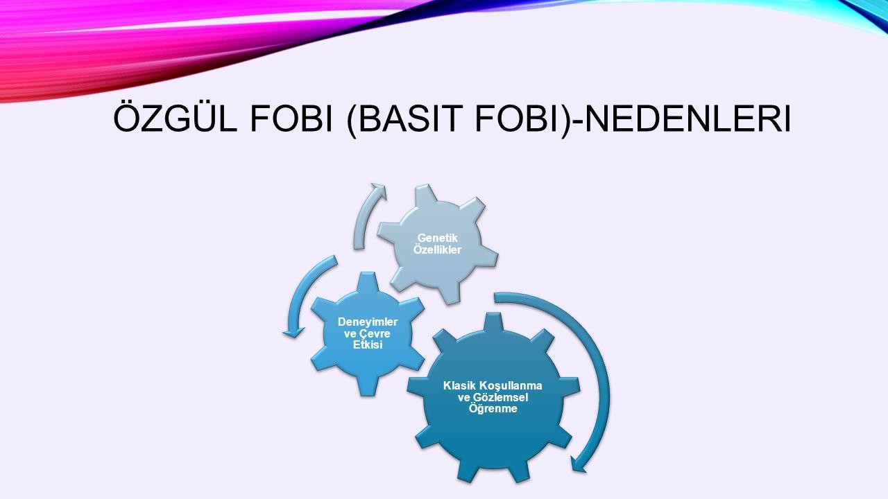 ÖZGÜL FOBI (BASIT FOBI)-NEDENLERI Klasik Koşullanma ve Gözlemsel Öğrenme Deneyimler ve Çevre Etkisi Genetik Özellikler