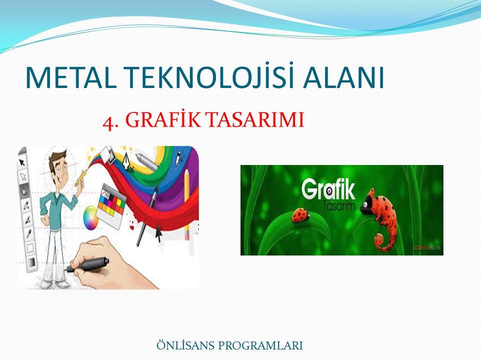 METAL TEKNOLOJİSİ ALANI ÖNLİSANS PROGRAMLARI 4. GRAFİK TASARIMI