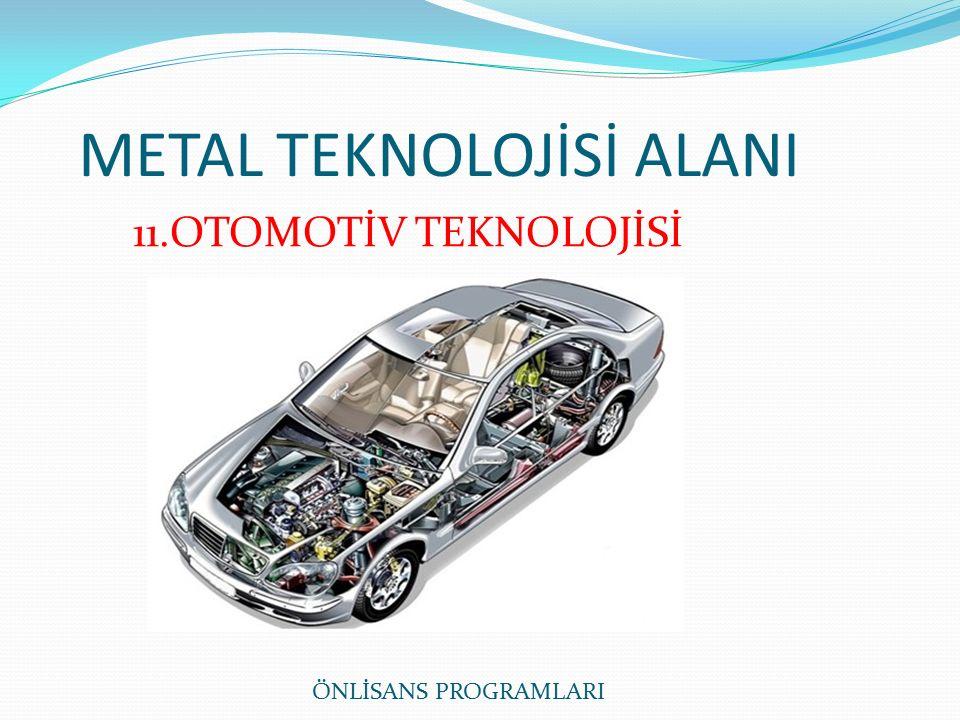 METAL TEKNOLOJİSİ ALANI ÖNLİSANS PROGRAMLARI 11.OTOMOTİV TEKNOLOJİSİ