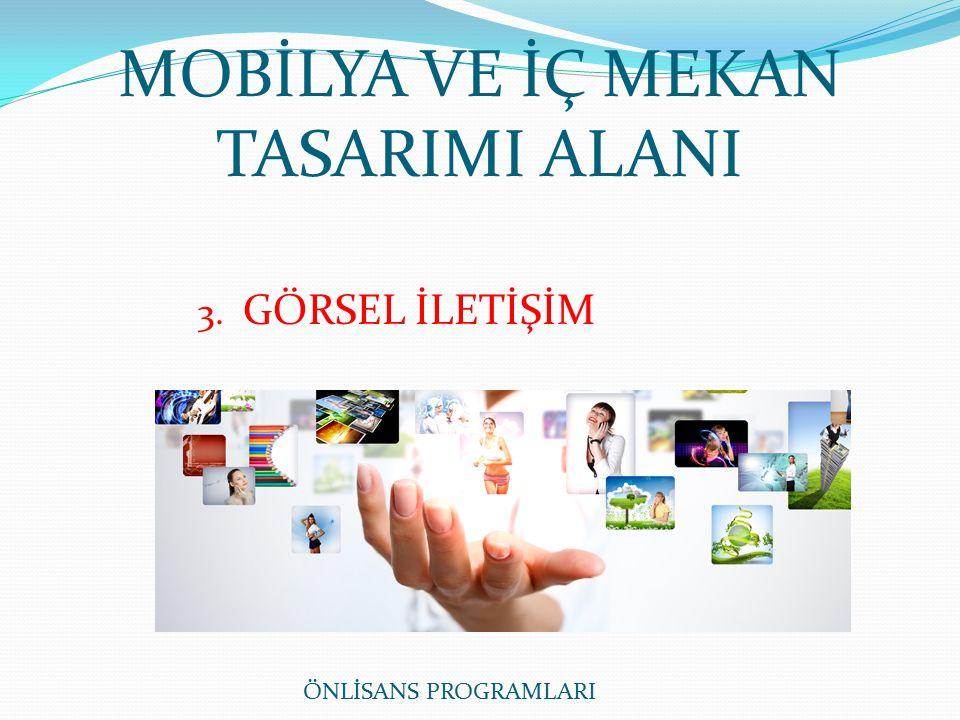 MOBİLYA VE İÇ MEKAN TASARIMI ALANI 3. GÖRSEL İLETİŞİM ÖNLİSANS PROGRAMLARI