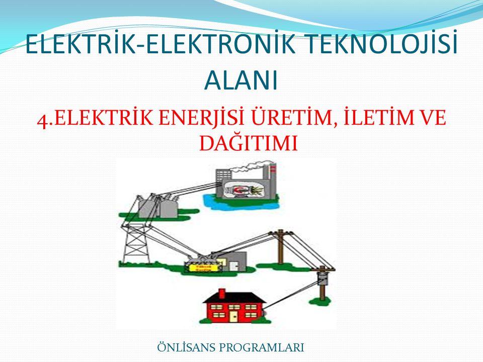 ELEKTRİK-ELEKTRONİK TEKNOLOJİSİ ALANI 4.ELEKTRİK ENERJİSİ ÜRETİM, İLETİM VE DAĞITIMI ÖNLİSANS PROGRAMLARI
