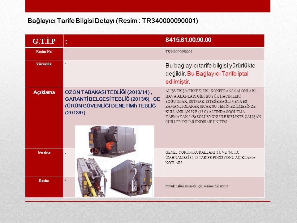 G.T.İ.P: 8415.81.00.90.00 Resim No:TR340000090001 Yürürlük: Bu bağlayıcı tarife bilgisi yürürlükte değildir.