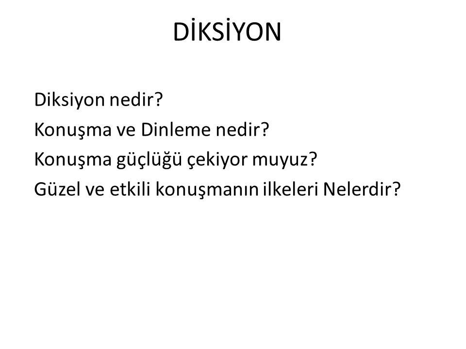 GÜZEL VE ETKİLİ KONUŞMANIN İLKELERİ 5.