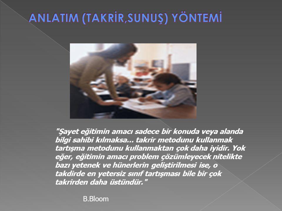 Şayet eğitimin amacı sadece bir konuda veya alanda bilgi sahibi kılmaksa...