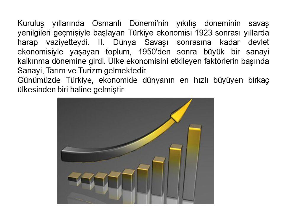 Kuruluş yıllarında Osmanlı Dönemi'nin yıkılış döneminin savaş yenilgileri geçmişiyle başlayan Türkiye ekonomisi 1923 sonrası yıllarda harap vaziyettey