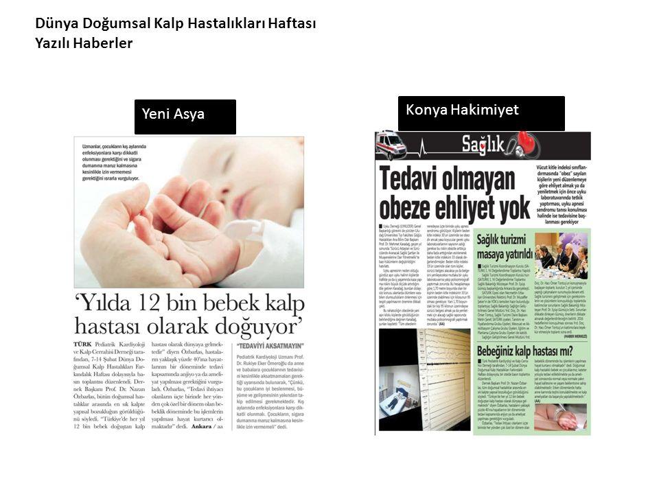 Dünya Doğumsal Kalp Hastalıkları Haftası Yazılı Haberler Yeni Asya Konya Hakimiyet