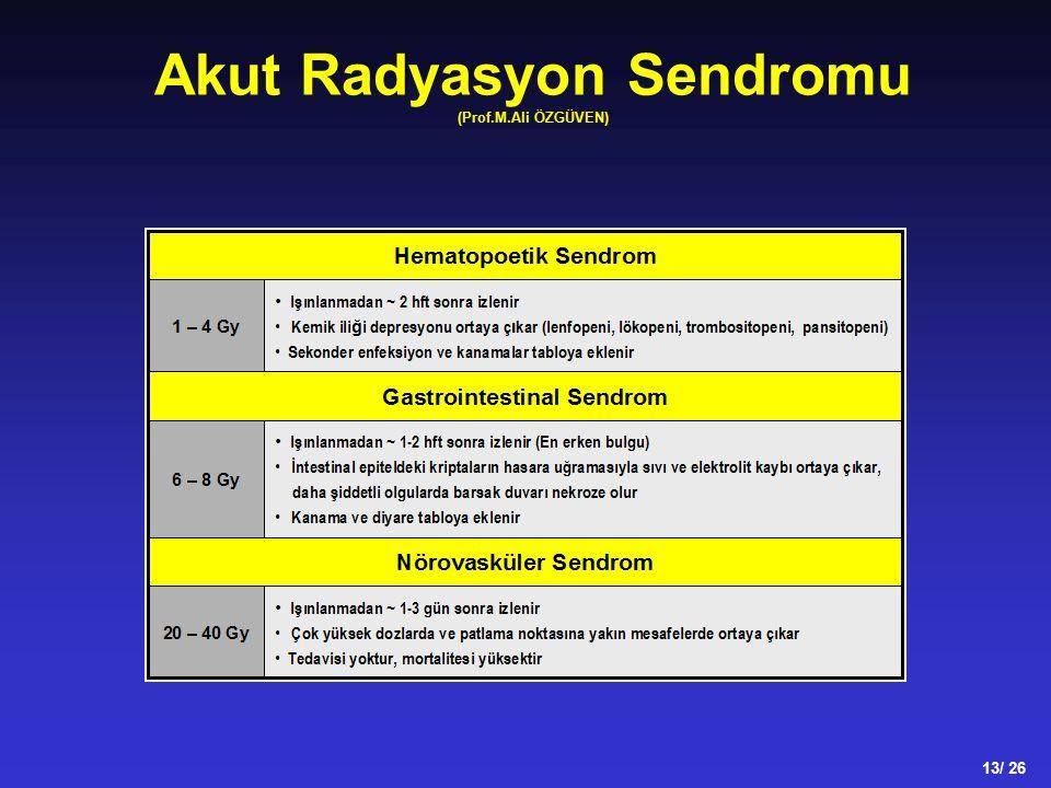 Akut Radyasyon Sendromu (Prof.M.Ali ÖZGÜVEN) 13/ 26