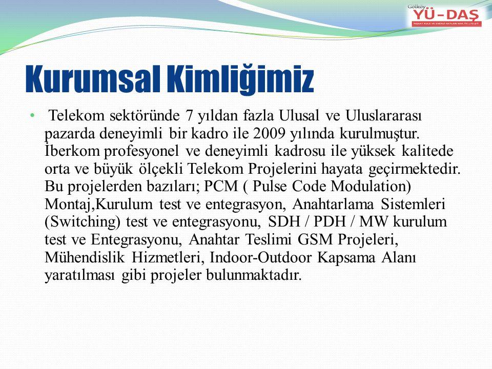 Kurumsal Kimliğimiz Telekom sektöründe 7 yıldan fazla Ulusal ve Uluslararası pazarda deneyimli bir kadro ile 2009 yılında kurulmuştur.