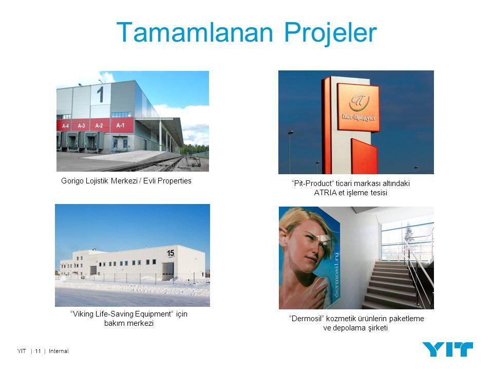 Tamamlanan Projeler YIT | 11 | Internal Viking Life-Saving Equipment için bakım merkezi Pit-Product ticari markası altındaki ATRIA et işleme tesisi Gorigo Lojistik Merkezi / Evli Properties Dermosil kozmetik ürünlerin paketleme ve depolama şirketi