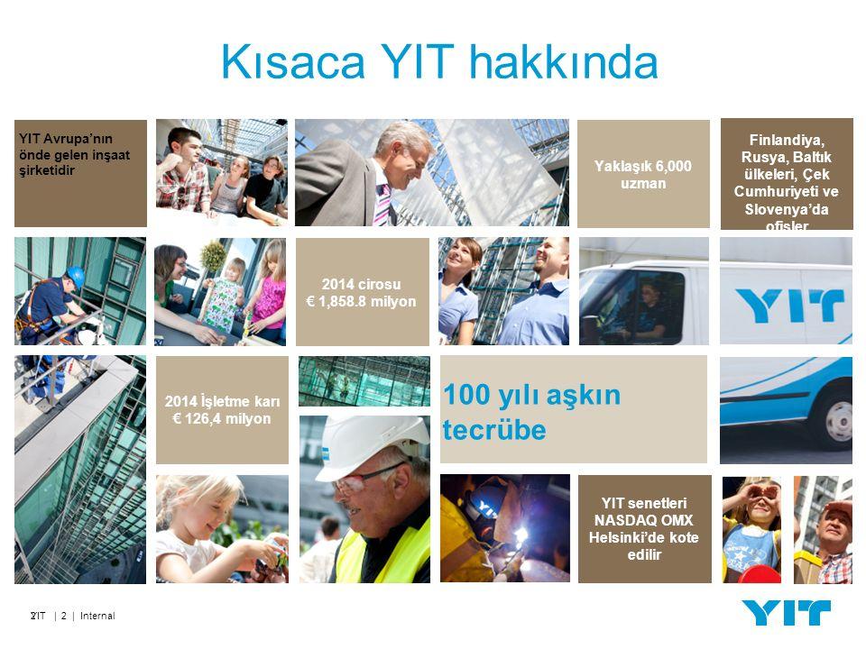 Üretim Yerelleştirilmenin Diğer Örnekleri YIT | 13 | Internal Pnömatik ekipmanın depolanması, kalite laboratuvarı ve eğitim merkezi içeren montaj tesisin inşaat projesi.