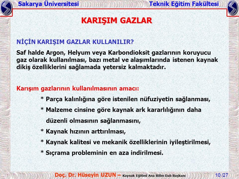 Sakarya Üniversitesi Teknik Eğitim Fakültesi /27 Doç.