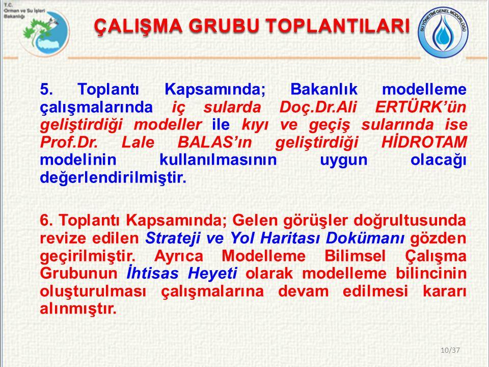 ÇALIŞMA GRUBU TOPLANTILARI 5.