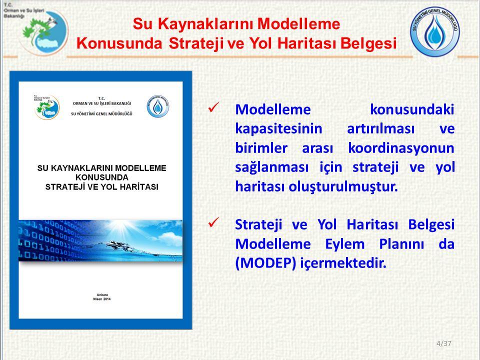 Su Kaynaklarını Modelleme Konusunda Strateji ve Yol Haritası Belgesi Modelleme konusundaki kapasitesinin artırılması ve birimler arası koordinasyonun sağlanması için strateji ve yol haritası oluşturulmuştur.