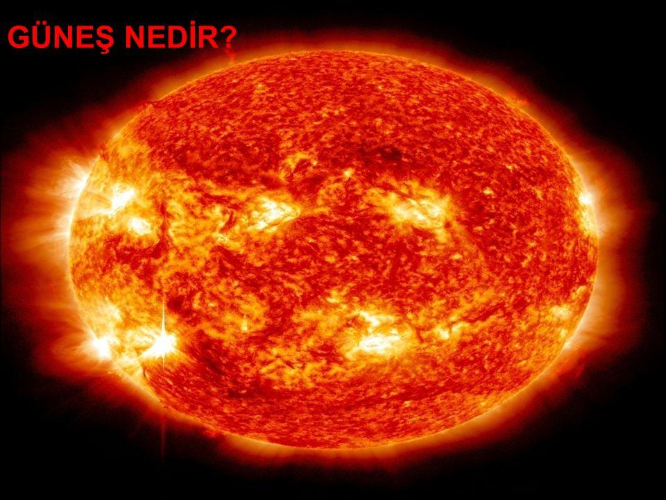 Güneş yarıçapı 700.000 km (dünya yarıçapının yaklaşık 109 katı),kütlesi 2×1030 kg (dünya kütlesinin yaklaşık 330.000 katı)olan bir yıldızdır.