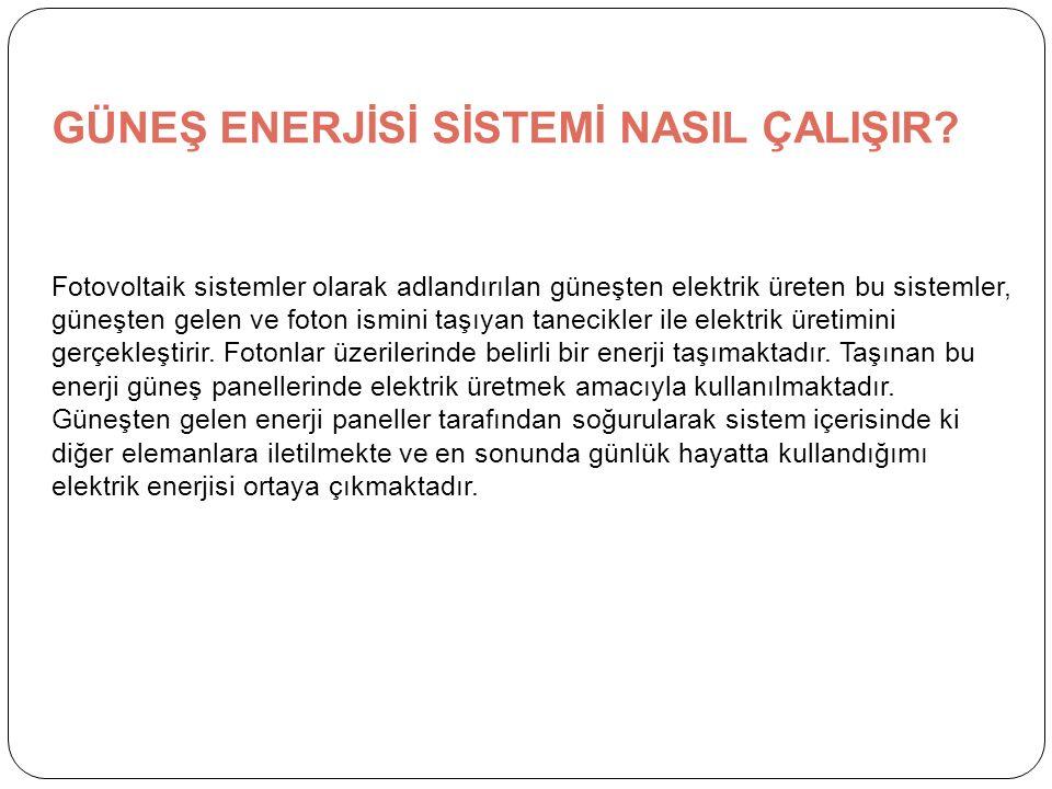 GÜNEŞ ENERJİSİ SİSTEMİ NASIL ÇALIŞIR.