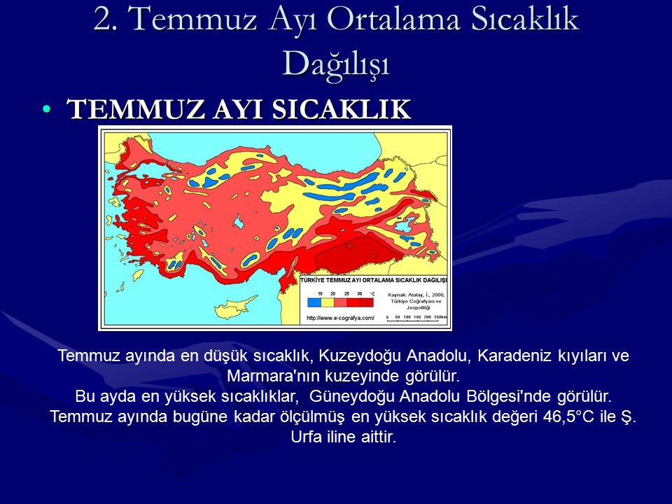 TÜRKİYE DE İKLİM ELEMANLARI A.SICAKLIKA.