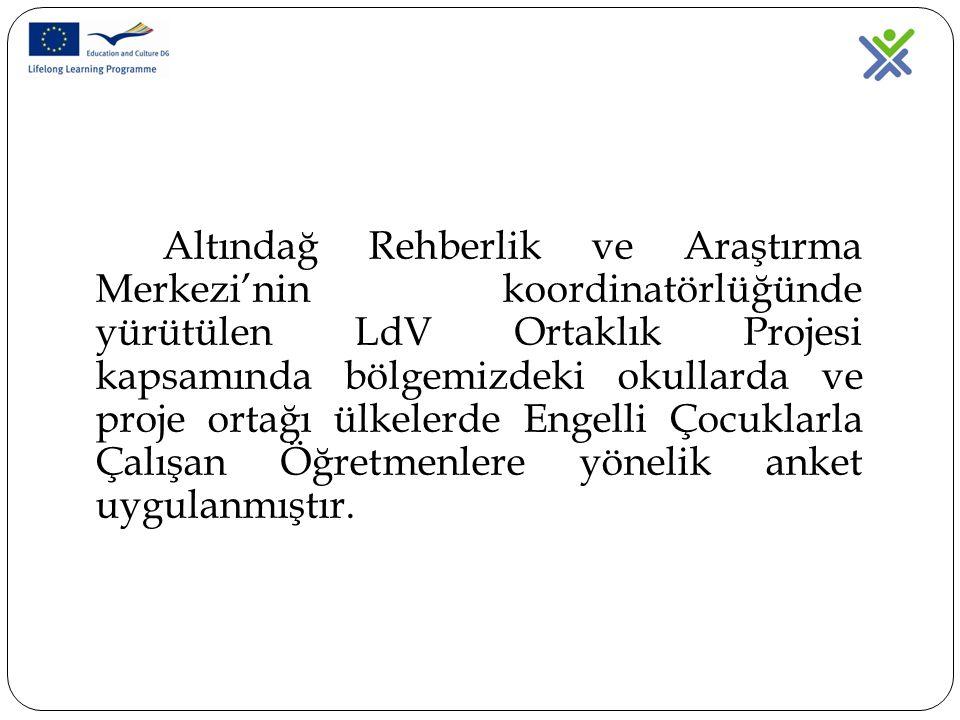 Altındağ Rehberlik ve Araştırma Merkezi'nin koordinatörlüğünde yürütülen LdV Ortaklık Projesi kapsamında bölgemizdeki okullarda ve proje ortağı ülkele