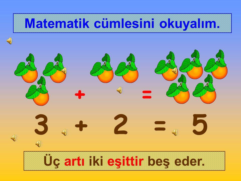 Şule ağaçtan 3 portakal toplamıştı. Sonra ağaçtan 2 portakal daha topladı.
