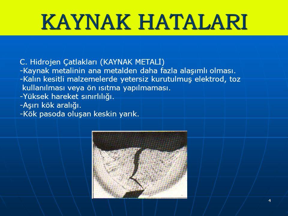 4 KAYNAK HATALARI C.