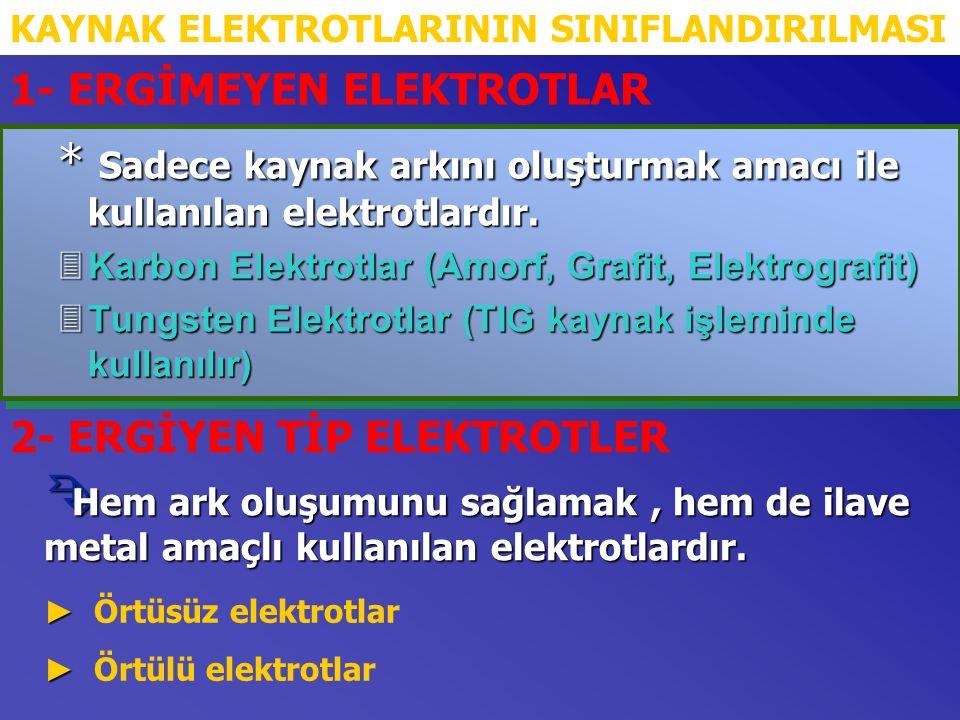 DEMİR TOZLU ELEKTROTLARIN GENEL ÖZELLİKLERİ M Örtülerinde demir tozu bulunmasından ötürü yüksek verime sahip elektrotlardır.