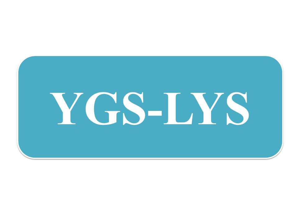 Hayaller ve Öngörülemeyen Gelecek YGS/LYS Sistem-Başarı