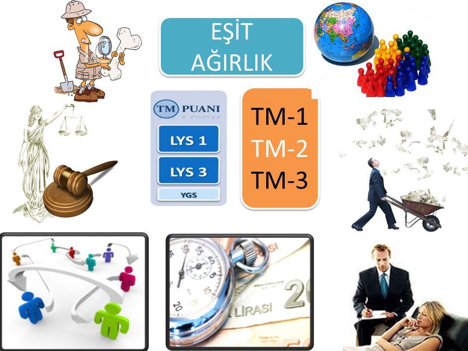 EŞİT AĞIRLIK TM-1 TM-2 TM-3 TM-1 TM-2 TM-3