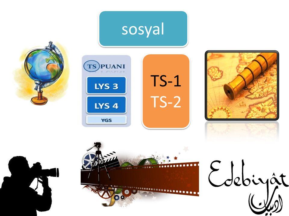 sosyal TS-1 TS-2 TS-1 TS-2