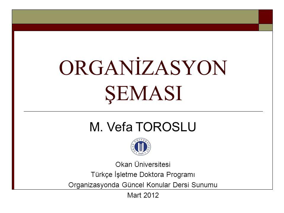 ORGANİZASYON ŞEMASI M.