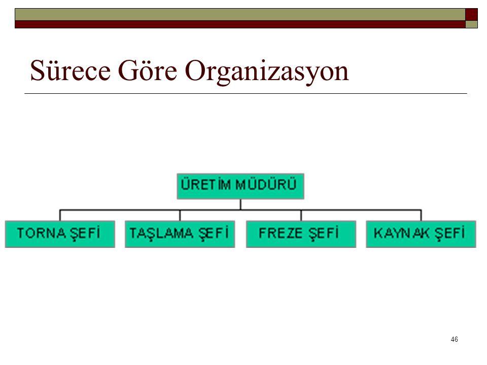 46 Sürece Göre Organizasyon