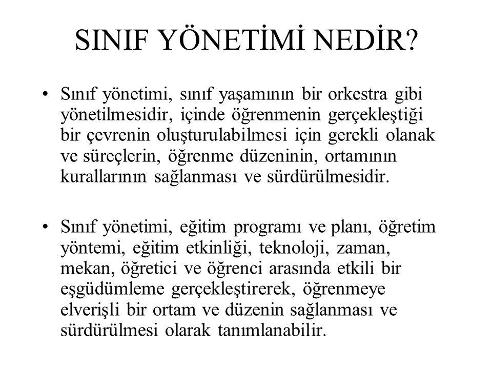 SINIF YÖNETİMİ NEDİR.