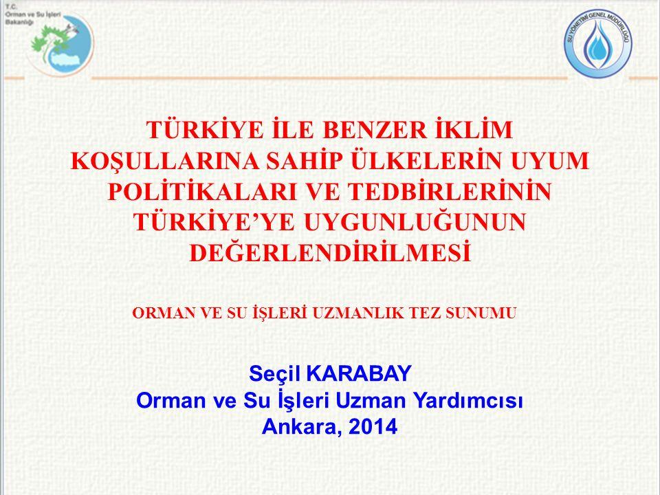 Türkiye'de Beklenen İklim Değişikliği Etkileri 2011-2040 yılları için tüm Türkiye'de yüzey sıcaklığının artacağı tahmin edilmektedir.
