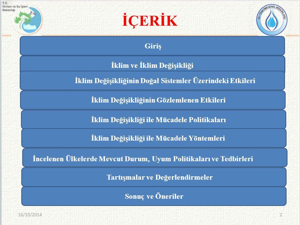 2011-2040 yılları arasında Türkiye'nin çoğu bölgesinde kış ve ilkbahar yağışlarında %30'a varan bir artış göstermektedir.