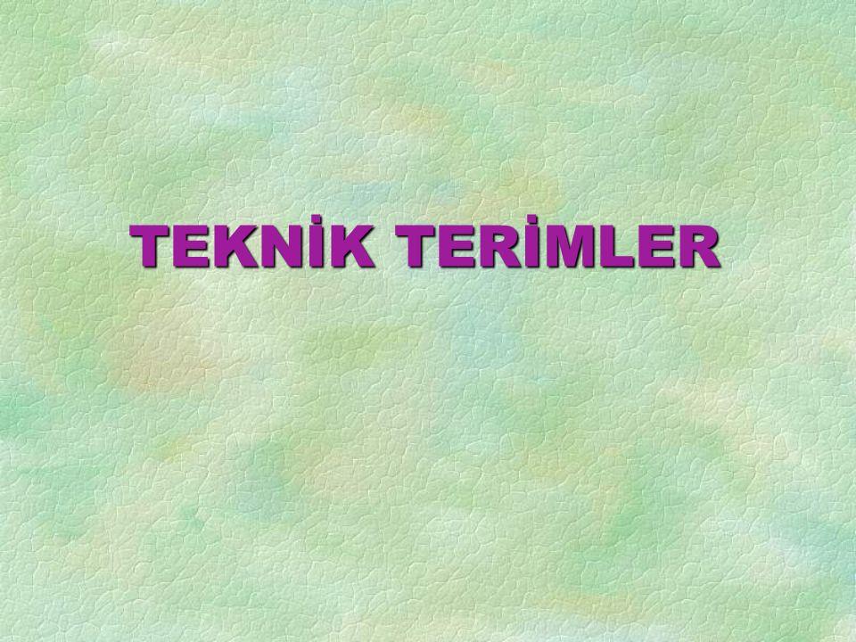 TEKNİK TERİMLER