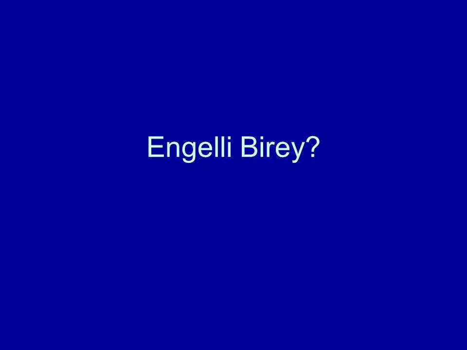 Engelli Birey?