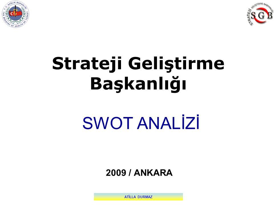 Strateji Geliştirme Başkanlığı SWOT ANALİZİ 2009 / ANKARA ATİLLA DURMAZ