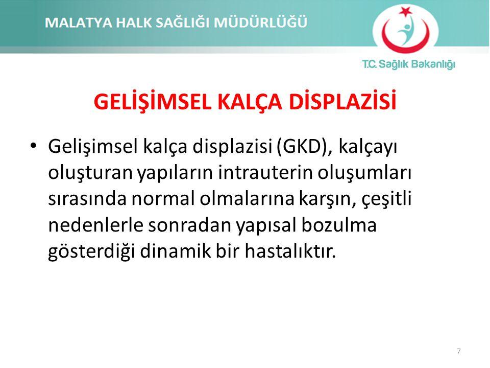 GKD 1000 canlı doğumda 1 oranında görüldüğü bildirilmiştir Türkiye'deki görülme sıklığının 1000 canlı doğumda yaklaşık 5 ile 15 arasında olduğu öngörülmektedir Bu da ülkemizde her yıl tedavi edilmediği takdirde sakat kalma olasılığı olan yaklaşık 14-18 bin yenidoğan ile karşılaşıldığı anlamına gelmektedir 8