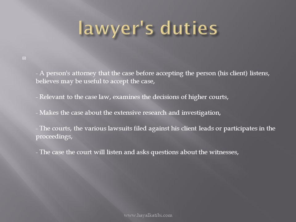  1-Hukuk ve ceza yargılama usulü yasalarınca öngörüler görevleri ve yazı işleri müdürlerinin tevdii ettikleri işleri yapmak  2-Dosya ve kayıtları silintisiz ve muntazam tutmak  3-Karar ve tutanakları dikkat ve itina ile yazmak imzasız bırakmamak  4-Davalara ait müzekkere ve davetiyeleri karara uygun olarak yazmak ve ait oldukları adreslere göndermek  5-Cevabı gelmeyen müzekkerelerin tenkidini yapmak www.hayalkatibi.com