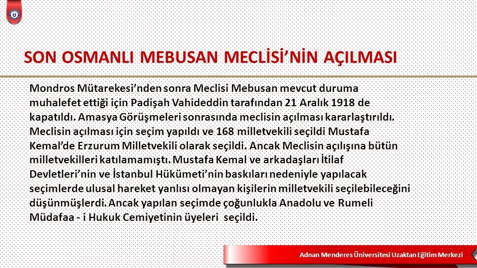 Adnan Menderes Üniversitesi Uzaktan Eğitim Merkezi 42  İzmir, Kırkağaç, Akhisar, Ödemiş, Tire ve Söke'yi içine alan bölgede Osmanlı idaresi devam edecek.