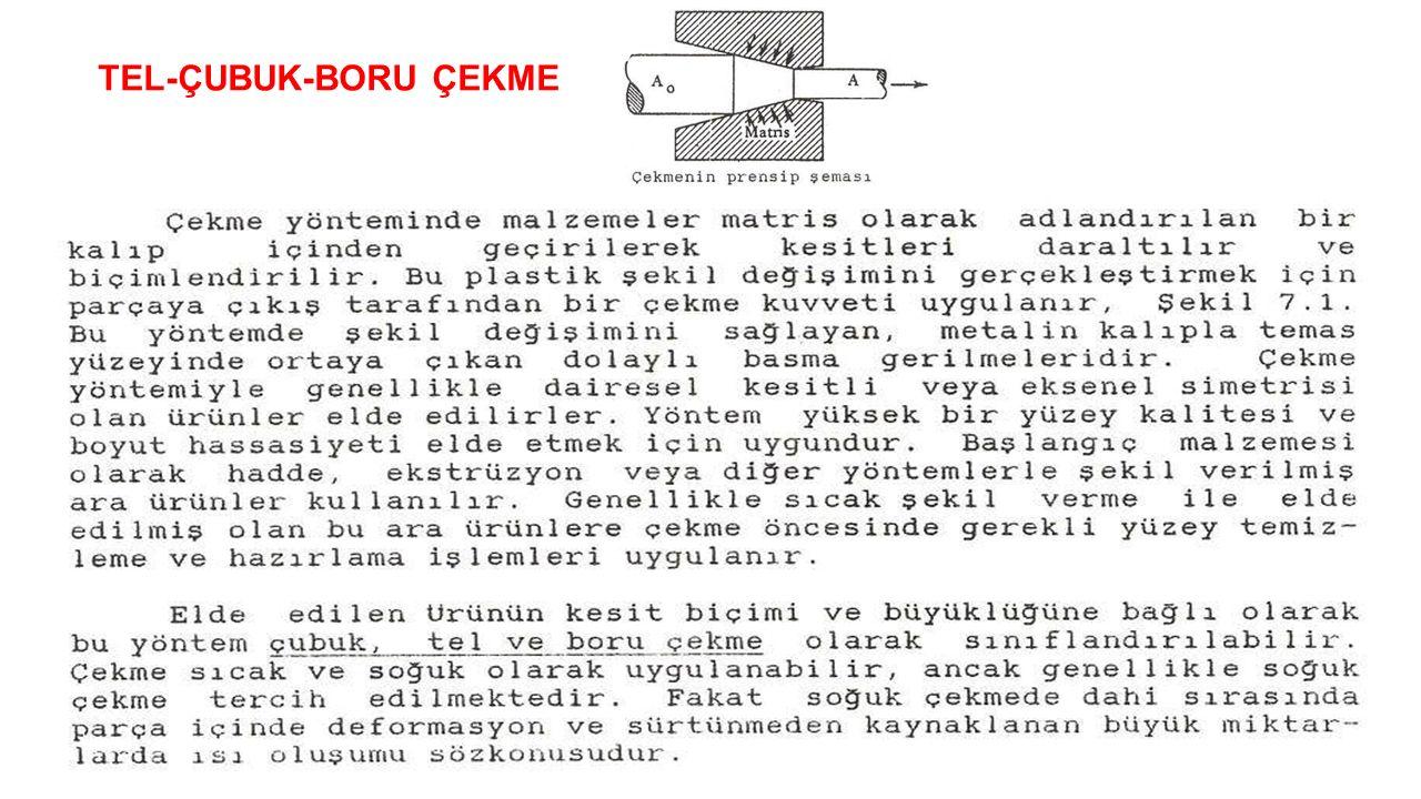 TEL-ÇUBUK-BORU ÇEKME