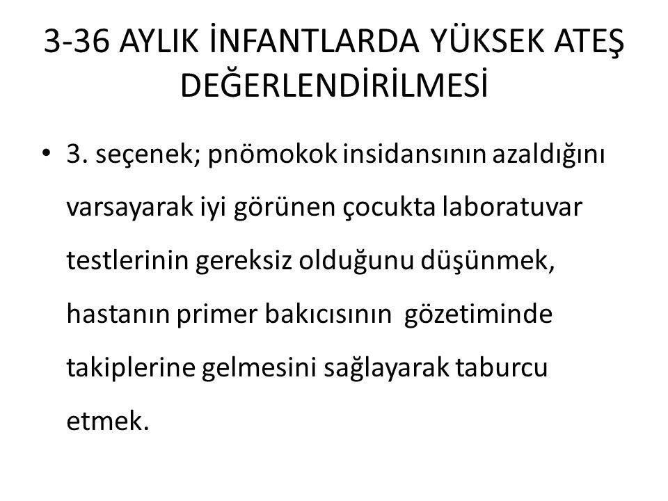 3-36 AYLIK İNFANTLARDA YÜKSEK ATEŞ DEĞERLENDİRİLMESİ 3.