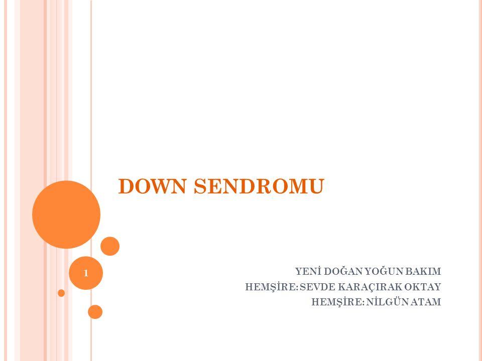 İÇERİK I.DOWN SENDROMU NEDİR. II. ETYOLOJİ III. EPİDEMİ IV.