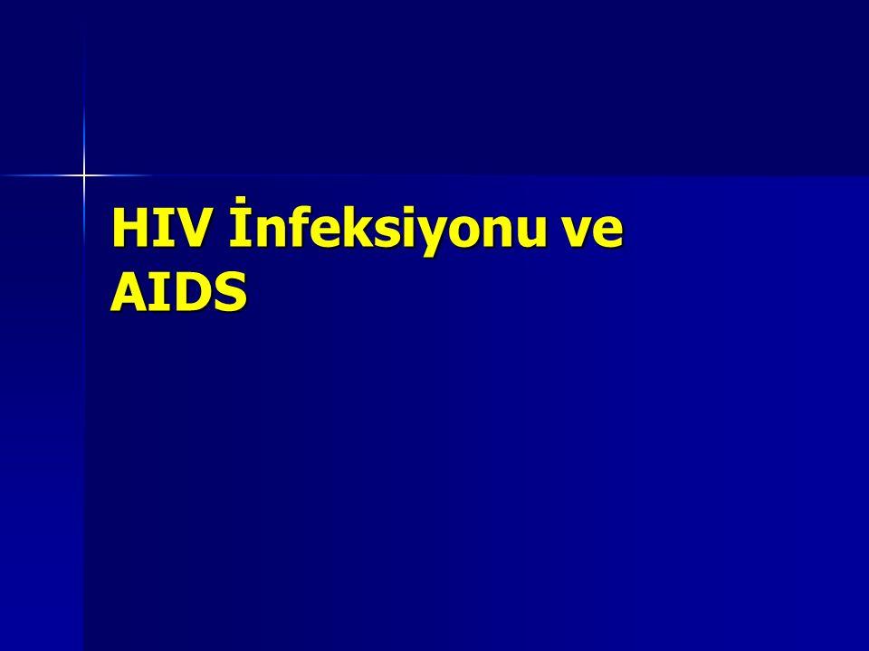 Yetişkinlerde HIV vücuda ilk alındıktan 10 yıl sonrasına kadar, HIV ile enfekte dogan bebeklerde ise 2 yıla kadar genelde inatçı ve şiddetli belirtiler, görülmemektedir.