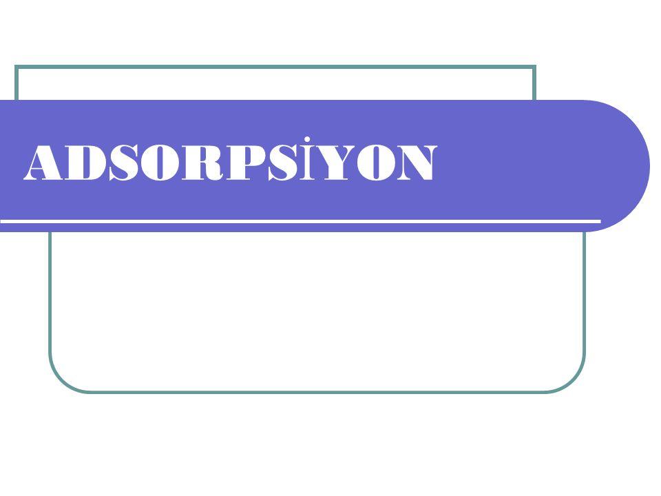 Adsorpsiyon olayı ilk olarak 1773 yılında C.W.Scheele tarafından gazlar için, 1785 yılında da Lowitz tarafından sıvılar için gözlenmiştir.