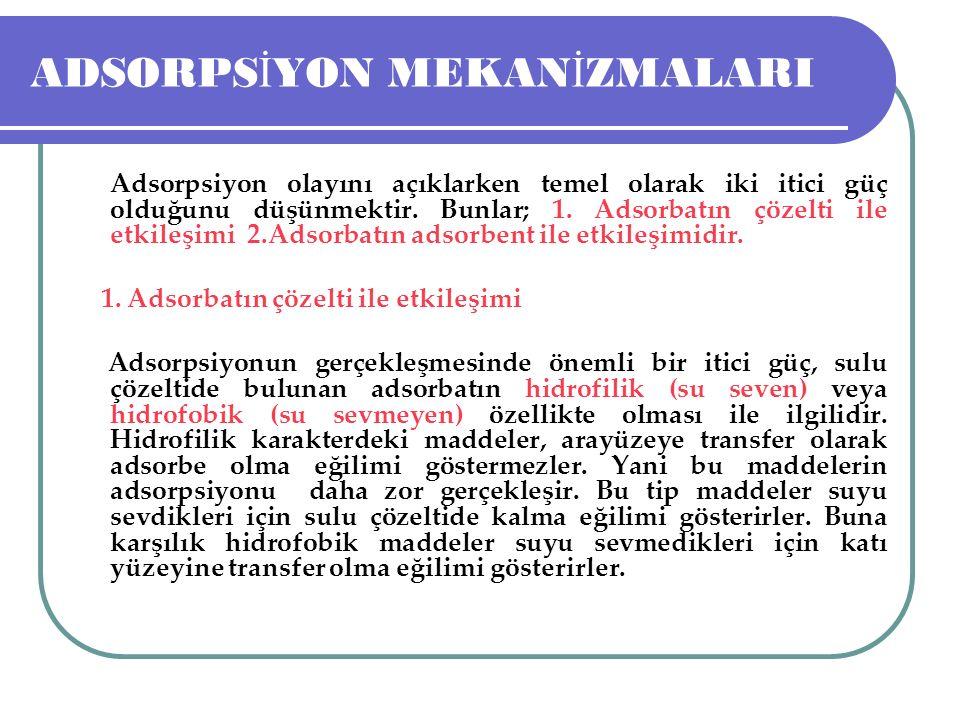 ADSORPS İ YON MEKAN İ ZMALARI 2.
